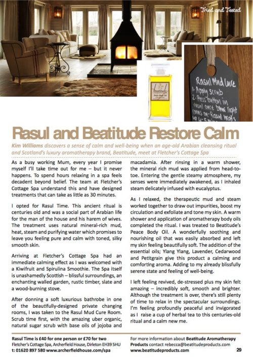 Beatitude Review Fletcher's Cottage Spa