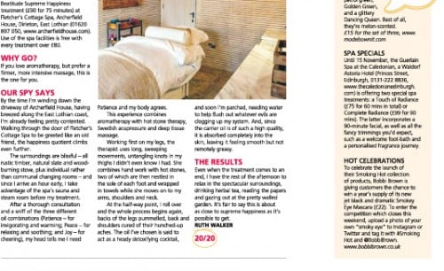 Beatitude Review Scotsman - Spa Spy