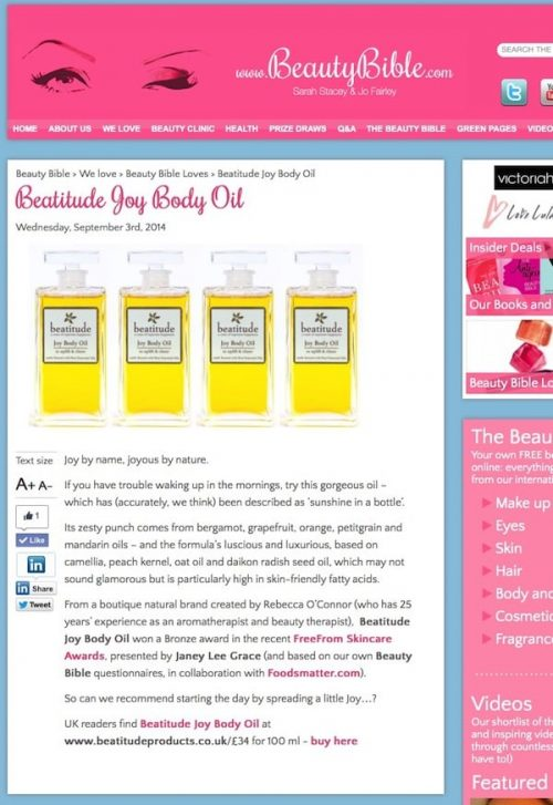 beauty Bible review of Beatitude