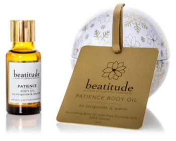 Beatitude Patience Body Oil Christmas Bauble