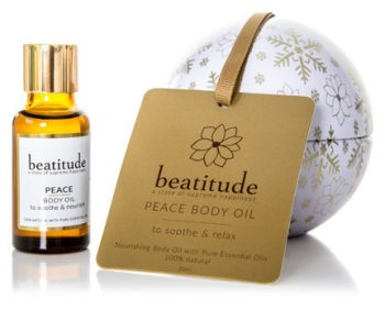Beatitude Peace Body Oil Christmas Bauble